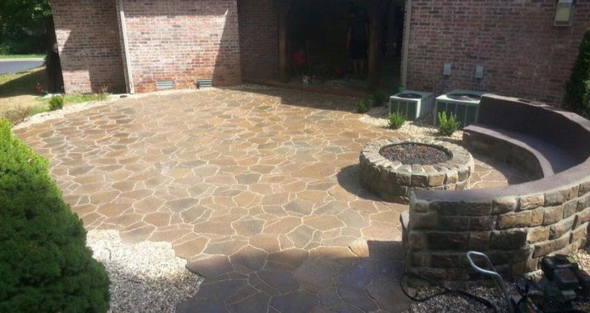 Concrete Vs Cement Vs Mortar : Paver patio vs concrete vision landscape design